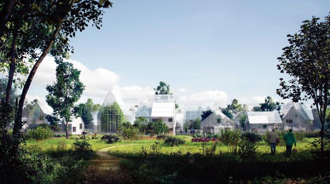 네덜란드 알미르에 들어설 예정인 스마트팜 공동체 마을 레겐빌리지 개념도 [Regen Village@EFFEKT ARCHITECTS]