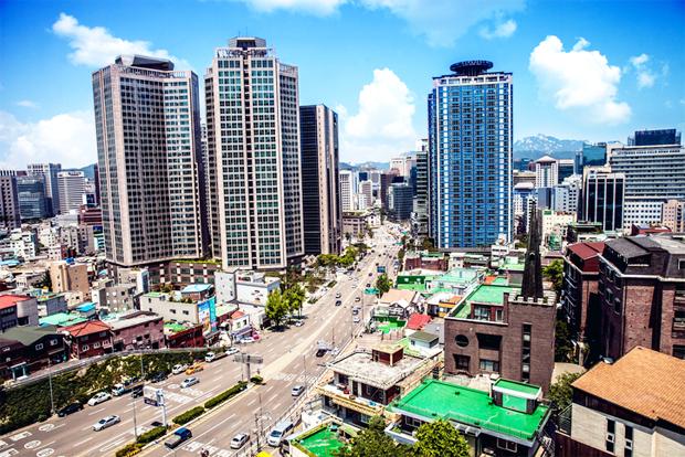 서울 도심의 모습