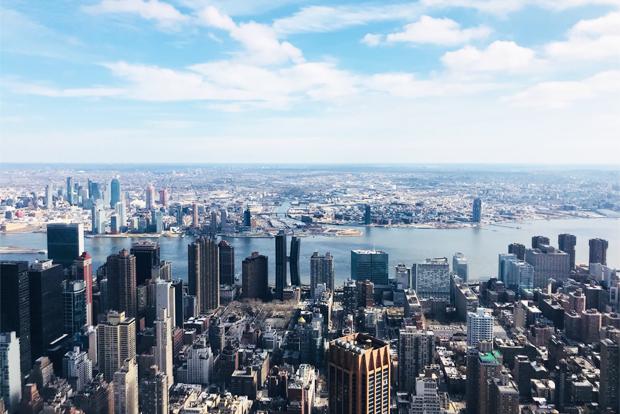 엠파이어 스테이트 빌딩에서 내려다보이는 맨해튼 시가지