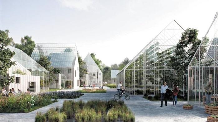 네덜란드 알미르 지역에 생길 친환경 스마트팜 공동체 'Regen Village' 개념도.