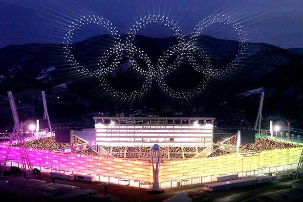 2018 평창올림픽 개회식의 드론쇼 (출처 : Business Recorder)