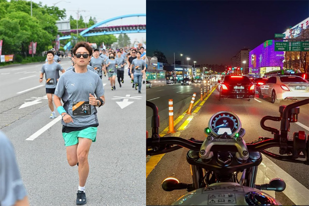 직장생활과 육아 틈틈이 다양한 취미생활을 즐기는 모습 (김주성 님 인스타그램)