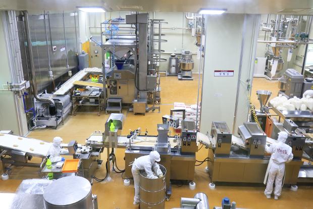 우리밀로 만두를 생산하고 있는 만두공방