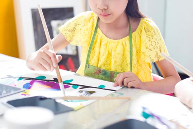 신용카드사회공헌재단 덕분에 미술공부를 시작한 어린이