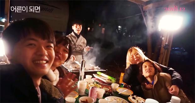 언니 없이 친구들과 캠핑카로 떠난 여행지에서 (출처 : 생각많은 둘째언니 유튜브)
