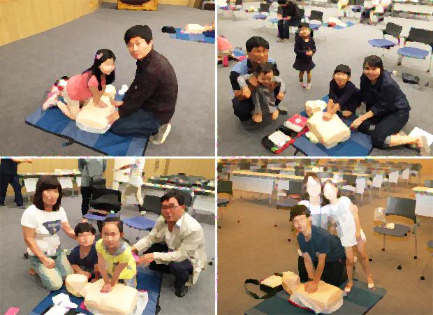 신형진 원장이 재능기부로 진행하는 '우리 아이와 함께하는 심폐소생술 교육' (신형진 원장 제공)