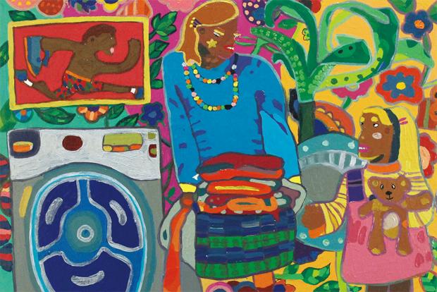 hyggelic family 1, acrylic on canvas, 42x26cm, 2017