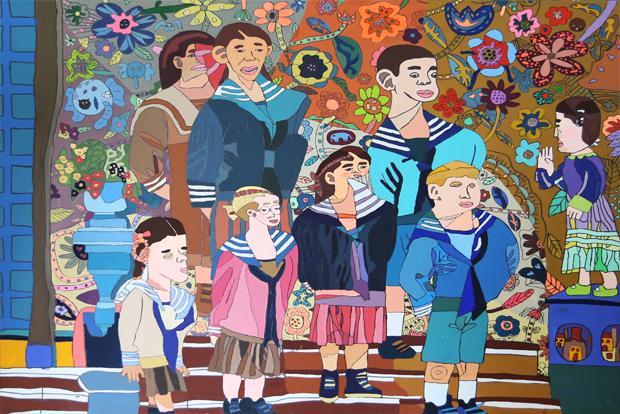 꽃 · sound of music, acrylic on canvas, 119x91cm, 2013