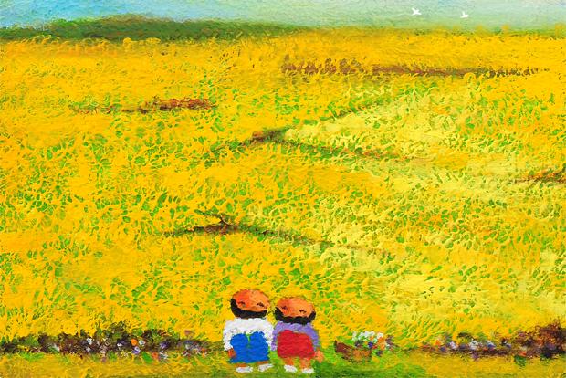 유년시절의 추억을 그린 '봄날의 추억'