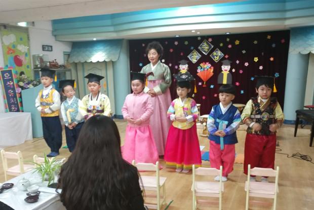 권말순 님이 36년간 운영한 오색유치원 마지막 졸업식 날 (권말순 님 제공)