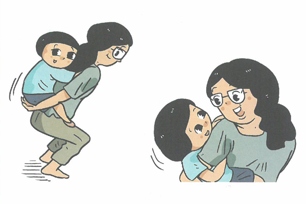부모와 자녀가 함께하는 모-아애착증진프로그램을 설명하는 그림