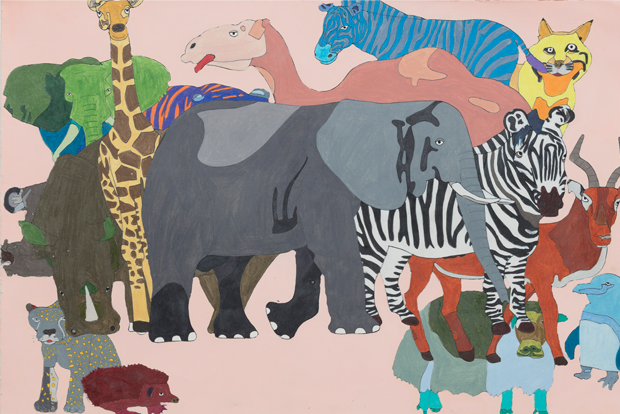 동물원, color pencil on paper, 76x56cm, 2017