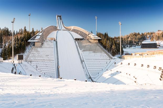 올림픽 경기가 열리는 스키장
