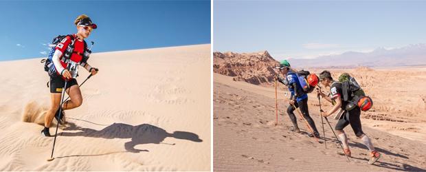 2017년 나미비아 사하라사막 마라톤 완주(왼쪽), 2018년 칠레 아타카마사막 마라톤 완주