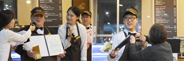 """""""제가 만든 음료를 선보일 수 있어서 기쁩니다!"""" 올해의 우승자인 김윤우 바리스타와 이세민 바리스타"""