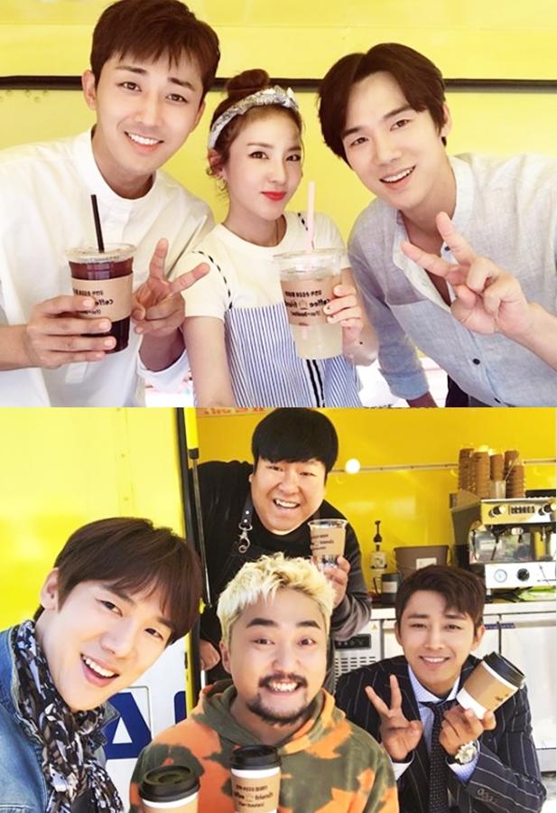 올 한 해 동안 커피프렌즈 기부 프로젝트를 펼친 두 배우 (출처 : 킹콩 by 스타쉽 엔터테인먼트)