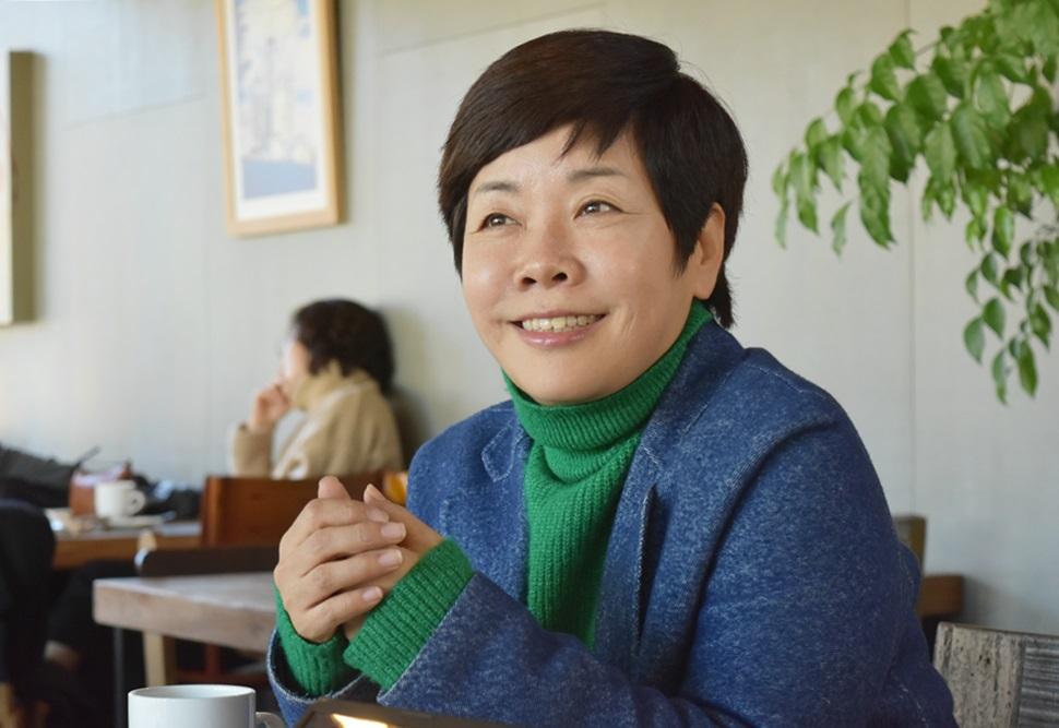 김미화씨의 삶은 매순간 도전이다.